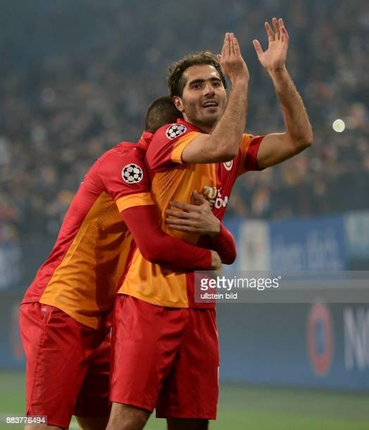 AchtelfinalRückspiel Saison 2012/2013 FUSSBALL CHAMPIONS LEAGUE ACHTELFINALE Rueckspiel 2012/2013 FC Schalke 04 Galatasaray Istanbul Hamit Altintop...
