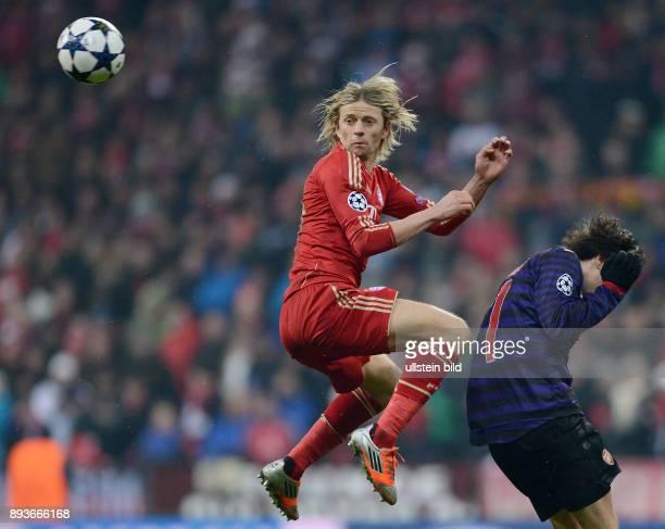 AchtelfinalRückspiel Saison 2012/2013 FUSSBALL CHAMPIONS FC Bayern Muenchen FC Arsenal London Anatoliy Tymoshchuk gegen Tomas Rosicky