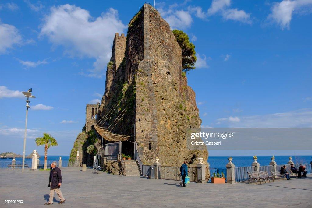 Aci Castello, Norman Castle - Sizilien, Italien : Stock-Foto
