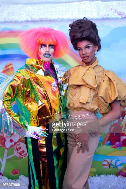 Acid Betty and Naomi Smalls attend the 4th Annual RuPaul's DragCon at Los Angeles Convention Center on May 11 2018 in Los Angeles California