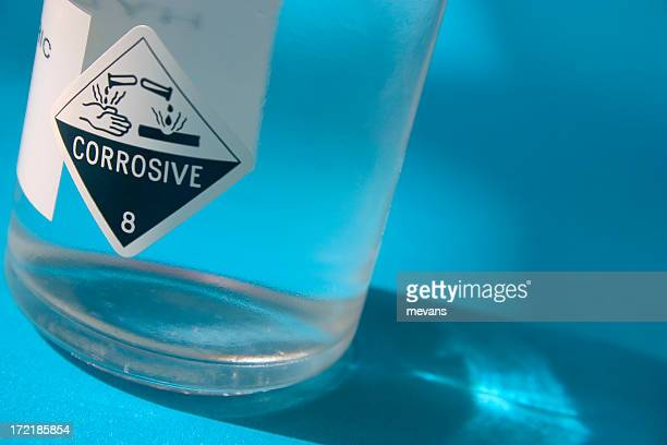 acid bottle - acid stock photos and pictures