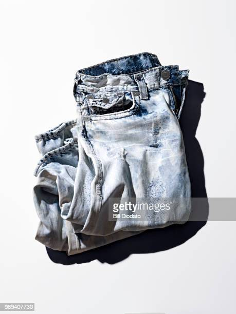 acid washed jeans - acid stock photos and pictures
