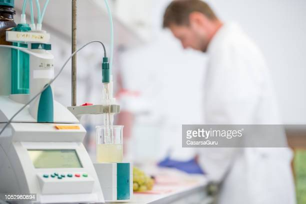 acidity measuring machine for grape research - ph value stock pictures, royalty-free photos & images