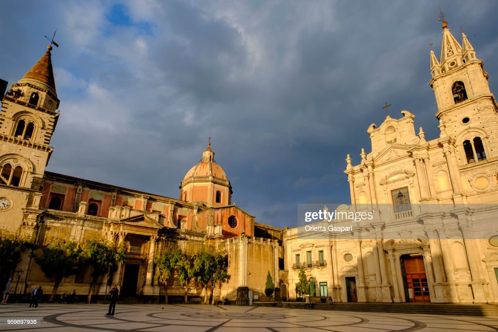 Acireale, Basilica of Saints Peter and Paul - Sicily, Italy : Stock Photo