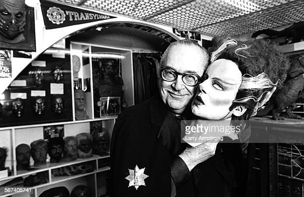Ackerman with head from Frankenstein's Bride