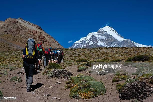 Aconcagua hiking trail
