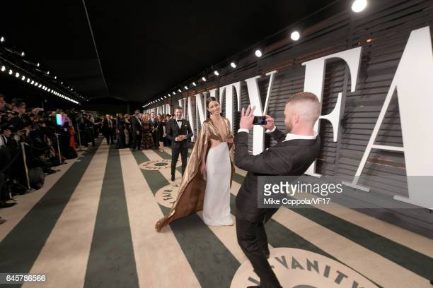 Acor Jessica Biel and actor/recording artist Justin Timberlake attend the 2017 Vanity Fair Oscar Party hosted by Graydon Carter at Wallis Annenberg...