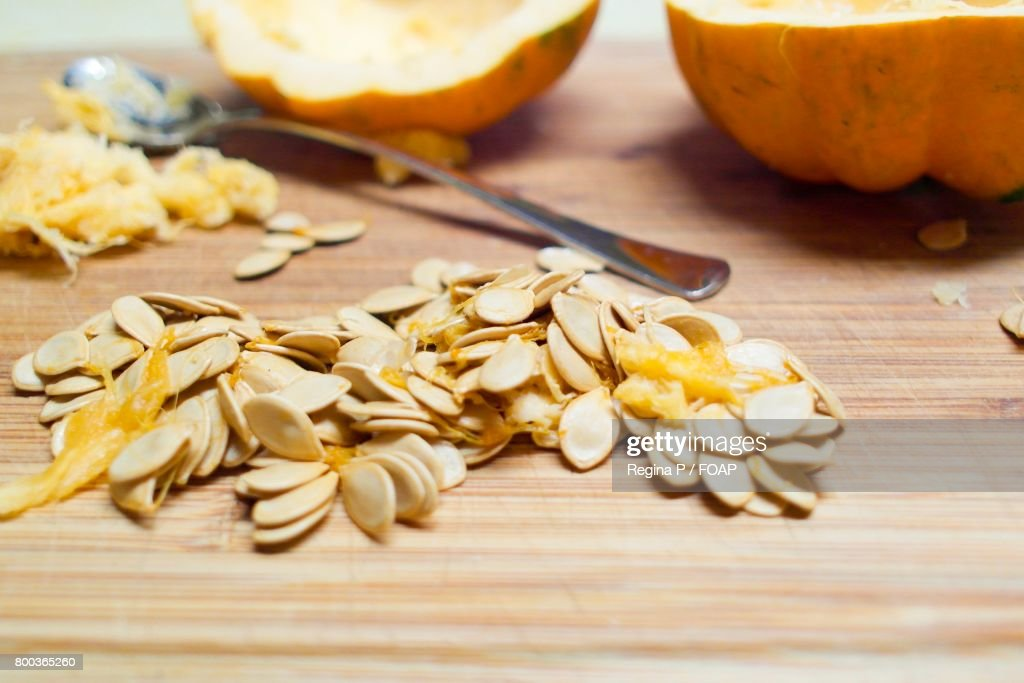 Acorn squash on table : Stock Photo