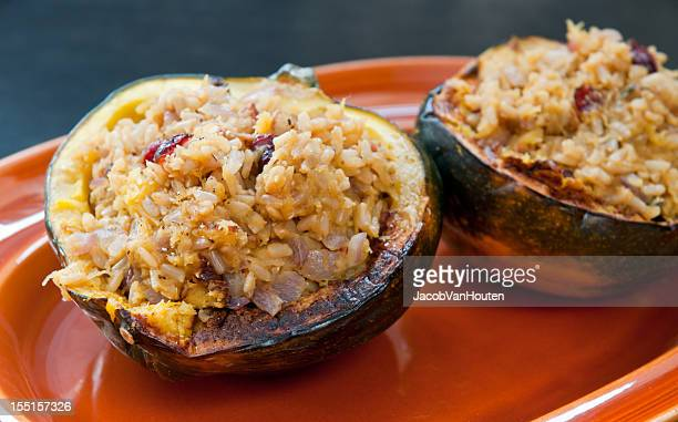Acorn Squash Stuffed with Rice