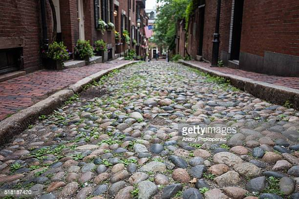 acorn street, boston - acorn street boston stock pictures, royalty-free photos & images
