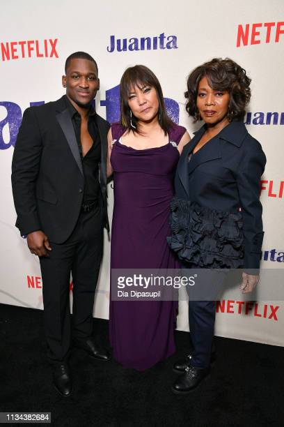 Acorye' White Tsulan Cooper and Alfre Woodard attend the 'Juanita' New York screening at Metrograph on March 07 2019 in New York City