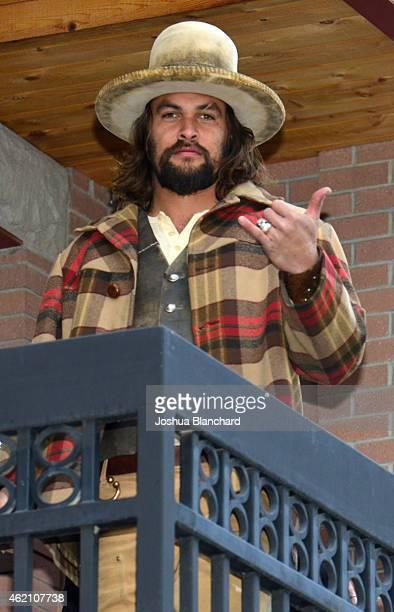 Acotr Jason Momoa is seen in Park City on January 24 2015 in Park City Utah