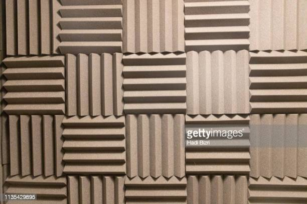 acoustic foam pattern - recording studio stock pictures, royalty-free photos & images