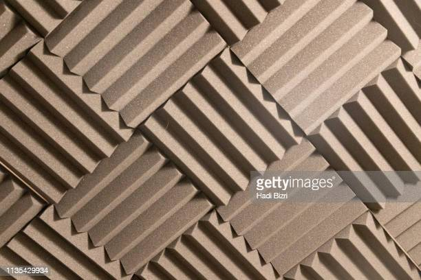 acoustic foam pattern - acoustic music stock pictures, royalty-free photos & images