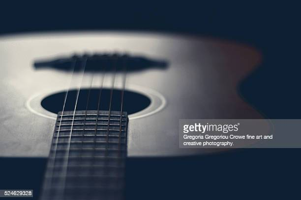 acoustic guitar - gregoria gregoriou crowe fine art and creative photography stock photos and pictures