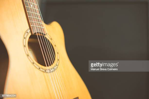 acoustic guitar - classical guitar stock photos and pictures