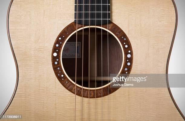 acoustic guitar rosette - acoustic guitar stock pictures, royalty-free photos & images