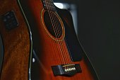 selctive focus guitar