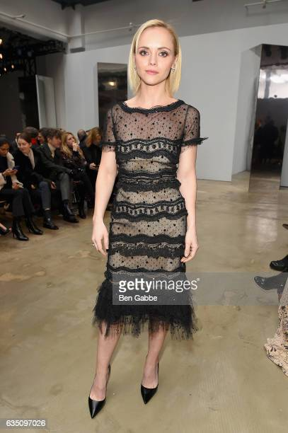 Acress Christina Ricci attends Carolina Herrera Collection during New York Fashion Week on February 13 2017 in New York City