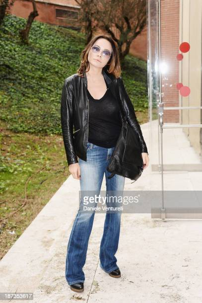 Acress Francesca Neri attends the Rome Film Festival Opening Press Conference during the 8th Rome Film Festival at the Auditorium Parco Della Musica...