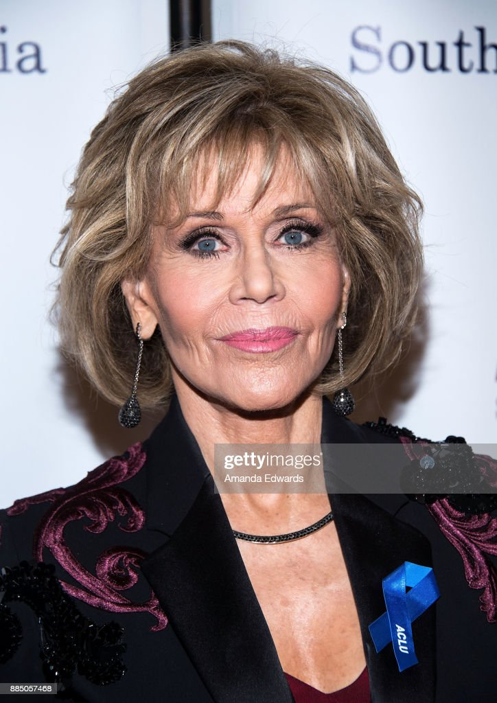 Acress Jane Fonda arrives at ACLU SoCal's Annual Bill of Rights Dinner at the Beverly Wilshire Four Seasons Hotel on December 3, 2017 in Beverly Hills, California.