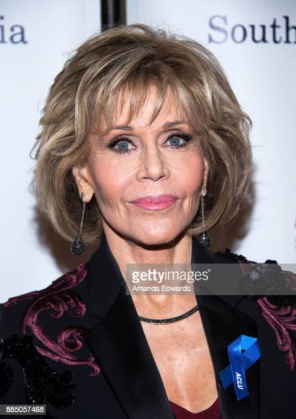 Acress Jane Fonda arrives at ACLU SoCal's Annual Bill of Rights Dinner at the Beverly Wilshire Four Seasons Hotel on December 3 2017 in Beverly Hills...
