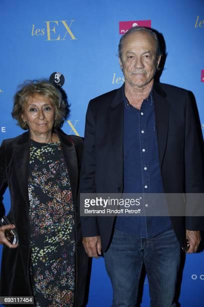 Acress Josiane Stoleru and her husband Actor Patrick Chesnais attend 'les Ex' Paris Premiere at Cinema Gaumont Capucine on June 6 2017 in Paris France