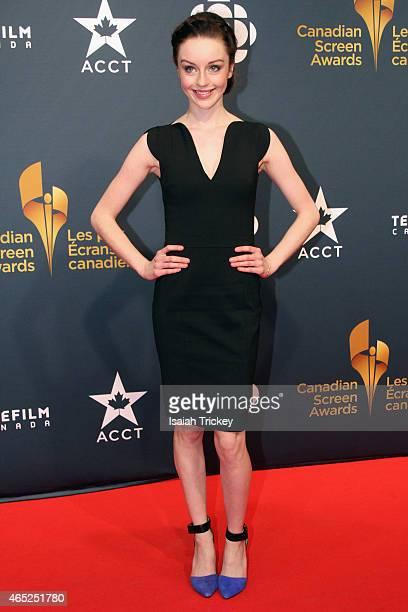 Acress Kacey Rohl arrives at the 2015 Canadian Screen Awards at the Four Seasons Centre for the Performing Arts on March 1 2015 in Toronto Canada