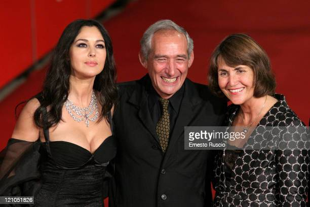 Acress Monica Bellucci Director Alain Corneau and French Minister of Culture Christine Albanelat at Red carpet of 'Le Deuxieme Souffle' 2th Rome...