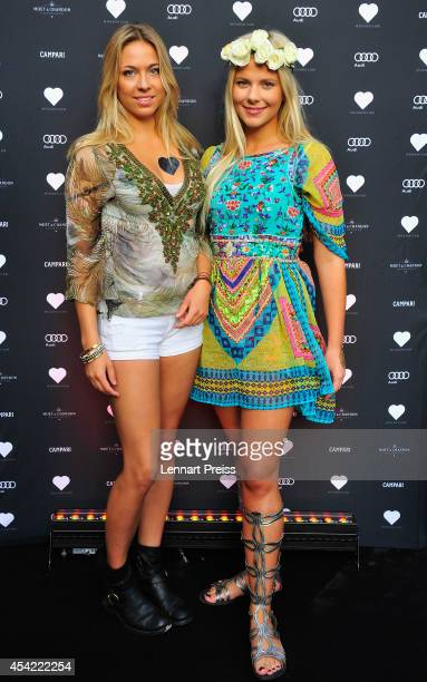 Acress Valentina Pahde poses during the Heart summer party 2014 at Heart on August 26 2014 in Munich Germany