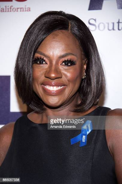 Acress Viola Davis arrives at ACLU SoCal's Annual Bill of Rights Dinner at the Beverly Wilshire Four Seasons Hotel on December 3 2017 in Beverly...