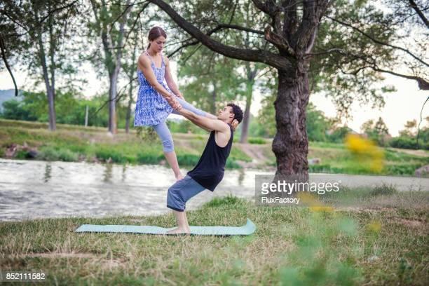 Acro yoga training