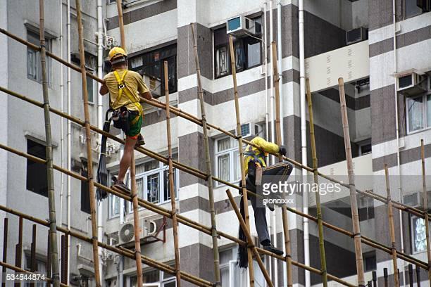 Acrobat Bauherren im Stadtteil Mong Kok, Hong Kong
