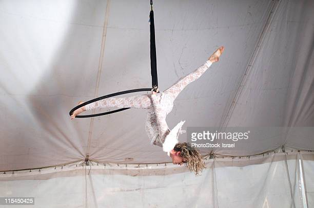 Acrobat with angel wings