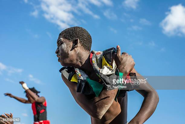 Acrobats and dancers make the performance dedicated to International Day against Drug Abuse and Illicit Trafficking in Lusaka Zambia on Sunday June...