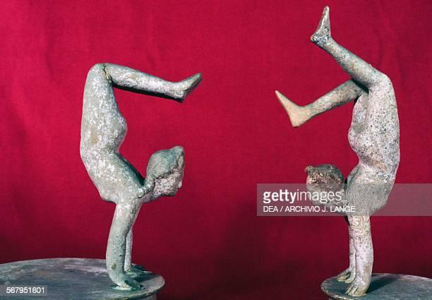 Acrobats terracotta statues 3rd century BC Greek civilisation Taranto Museo Archeologico Nazionale