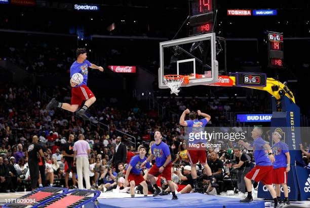 Acrodunk performs during halftime of the BIG3 Championship game at Staples Center on September 01, 2019 in Los Angeles, California.