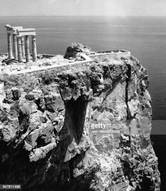 Acropole de Lindos sur l'île de Rhodes, en Grèce.