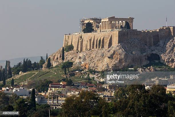 Acropolis and Parthenon as seen from Panathinaikon Stadium More than 15000 people run the historical route that is known because of the runner that...