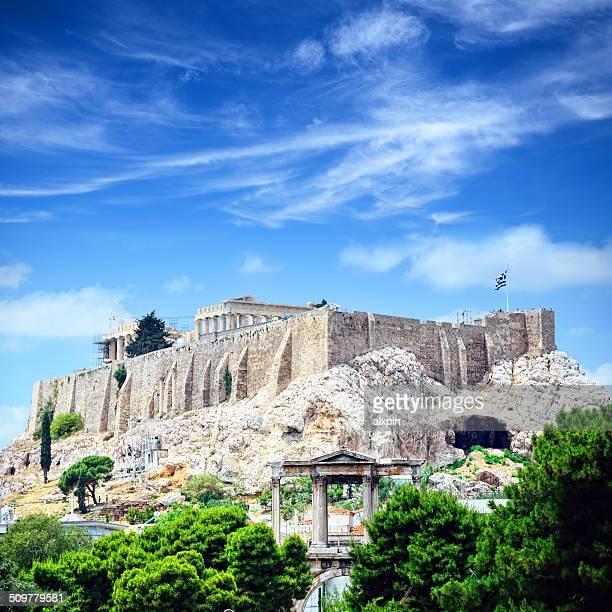 La ciudad de Atenas con vista a la Acrópolis