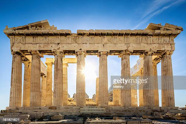 acropolis parthenon temple,athens,greece - greece stock pictures, royalty-free photos & images