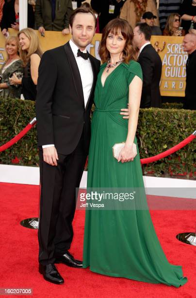 Acror Vincent Kartheiser and actress Alexis Bledel arrive at the 19th Annual Screen Actors Guild Awards held at The Shrine Auditorium on January 27...