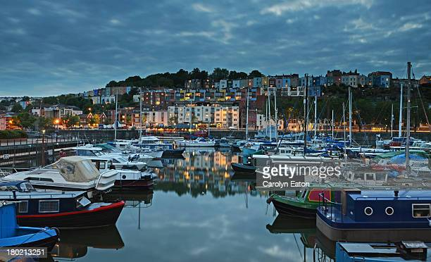 across the marina to cliftonwood - bristol stock pictures, royalty-free photos & images