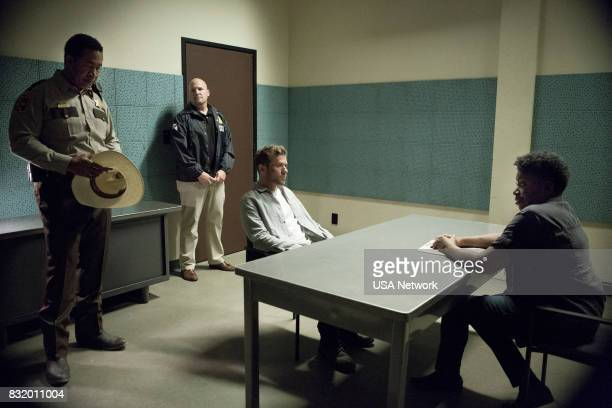 SHOOTER 'Across the Rio Grande' Episode 206 Pictured John Marshall Jones as Deputy Jordan Brown Ryan Phillippe as Bob Lee Swagger Carlease Burk as...