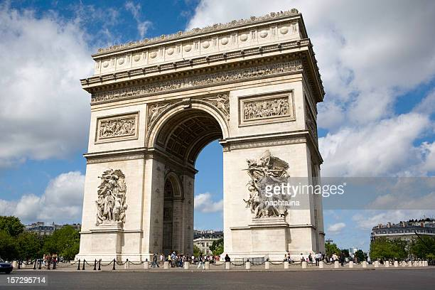 Across the street full view of Arc De Triomphe