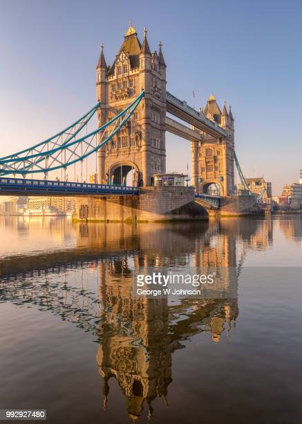 across the thames - london bridge stock photos and pictures