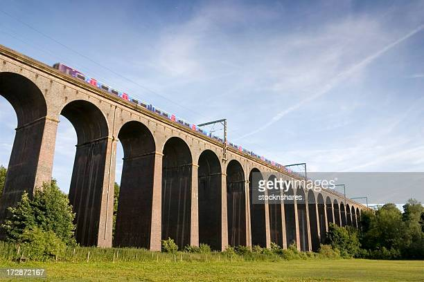 across the viaduct - hertfordshire stock pictures, royalty-free photos & images