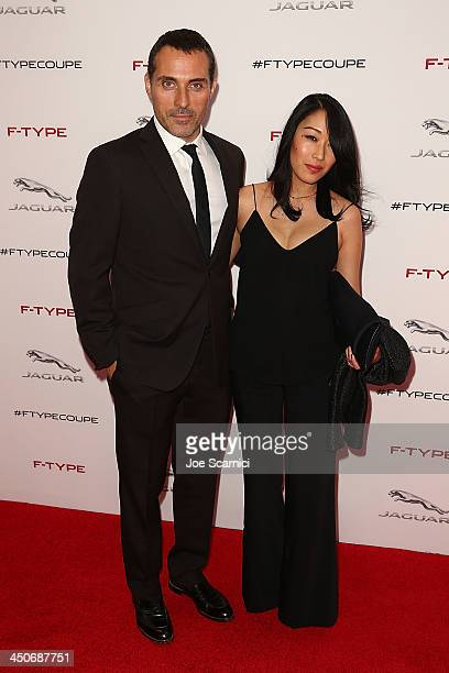 Acrot Rufus Sewell and dater Amy arrive at the unveiling of the Jaguar FTYPE Coupe at Raleigh Studios on November 19 2013 in Los Angeles California