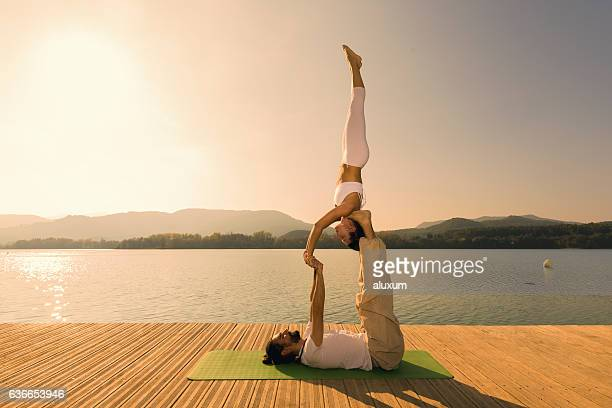 Acroyoga star pose