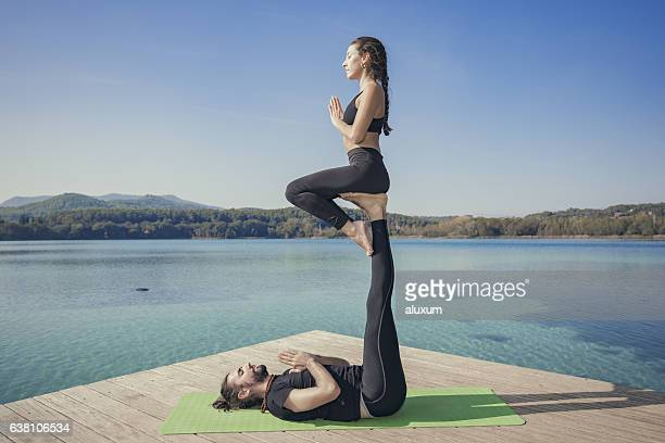Acroyoga throne pose